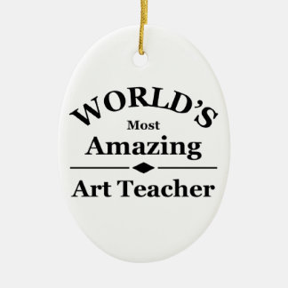 World's most amazing Art Teacher Christmas Ornament