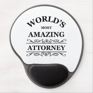 World's most amazing attorney gel mouse pad