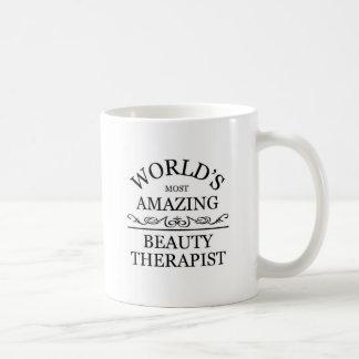World's most amazing Beauty Theraphist Basic White Mug