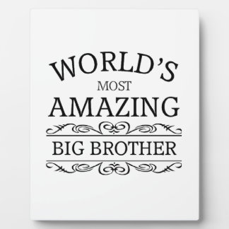World's most amazing big brother plaques