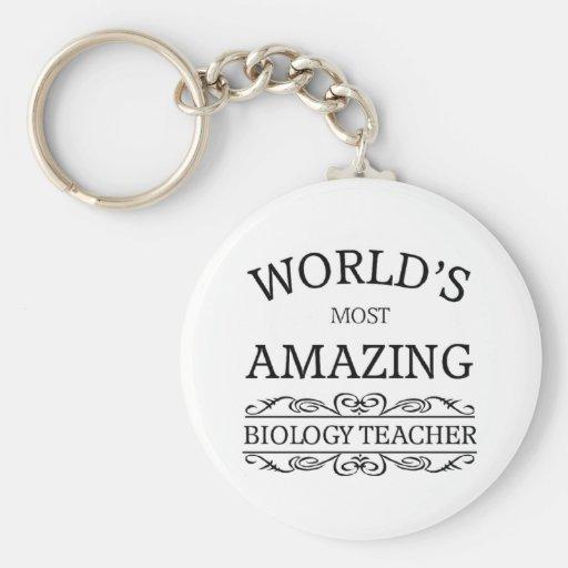 World's Most amazing Biology Teacher Keychains