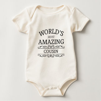 World's most amazing cousin baby bodysuit