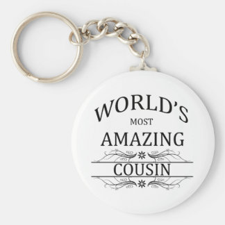 World's Most Amazing Cousin Basic Round Button Key Ring