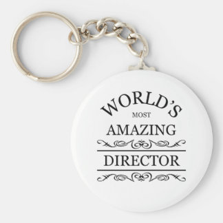 World's most amazing Director Basic Round Button Key Ring