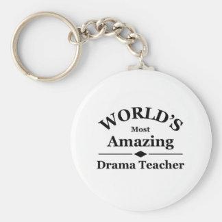 World's most amazing Drama Teacher Basic Round Button Key Ring
