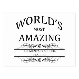 World's Most Amazing Elementary School Teacher Postcard