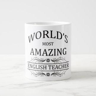 World's Most Amazing English Teacher Giant Coffee Mug