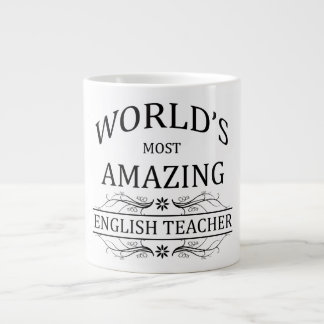 World's Most Amazing English Teacher Large Coffee Mug