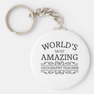 World's most amazing geography teacher key ring
