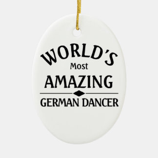 World's most amazing German Dancer Christmas Ornament