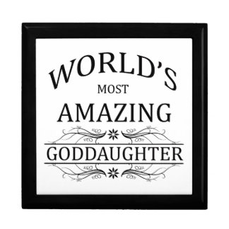 World's Most Amazing Goddaughter Gift Box