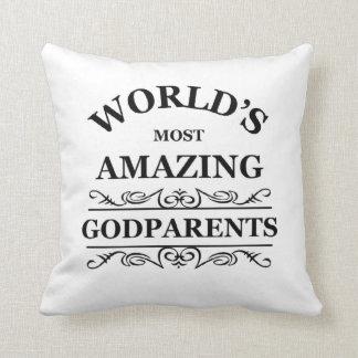 World's most amazing Godparents Cushion