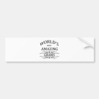 World's Most Amazing Grams Bumper Sticker