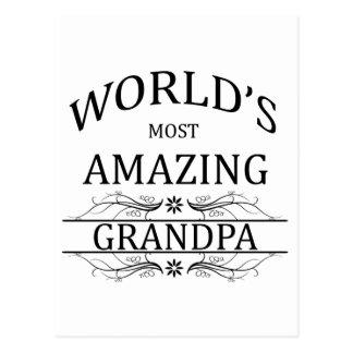 World's Most Amazing Grandpa Postcard