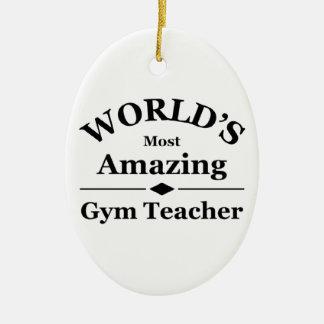World's most amazing gym teacher christmas ornament
