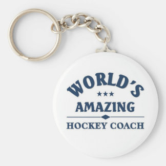 World's most amazing Hockey coach Basic Round Button Key Ring