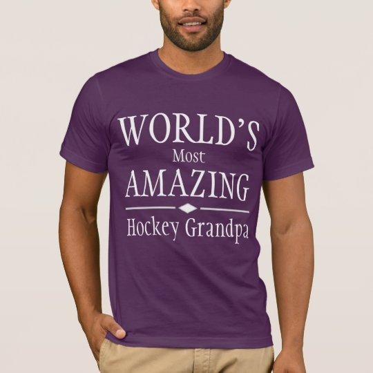 World's most amazing Hockey Grandpa T-Shirt