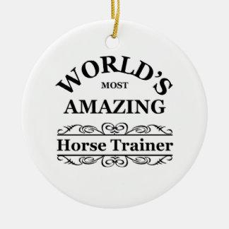 World's most amazing Horse Trainer Round Ceramic Decoration