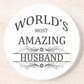 World's Most Amazing Husband Beverage Coasters