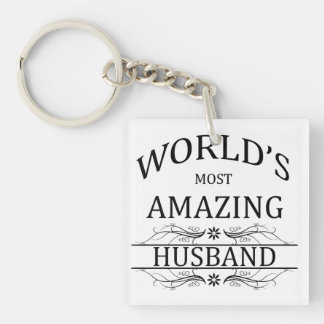 World's Most Amazing Husband Key Ring