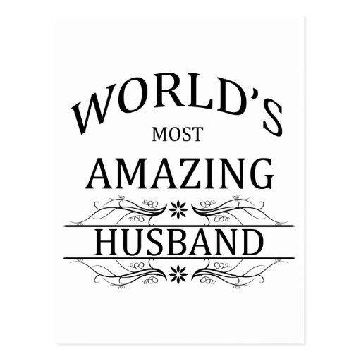 World's Most Amazing Husband Post Card