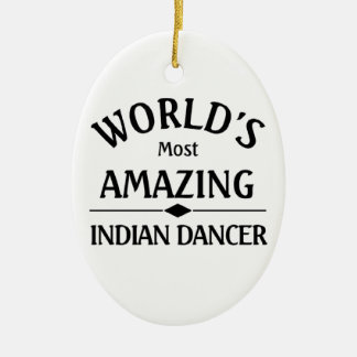 World's most amazing Indian Dancer Christmas Ornament