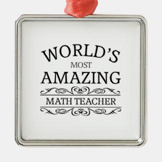 World's most amazing math teacher christmas ornament