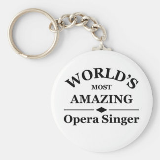 World's most amazing Opera Singer Basic Round Button Key Ring
