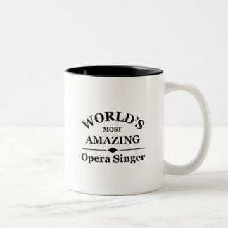World's most amazing Opera Singer Two-Tone Coffee Mug