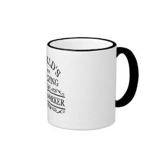 World's most amazing Postal Worker Ringer Mug