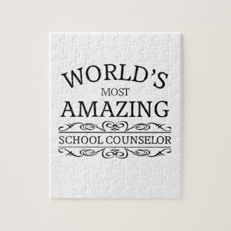 World's Most amazing school counselor Jigsaw Puzzle