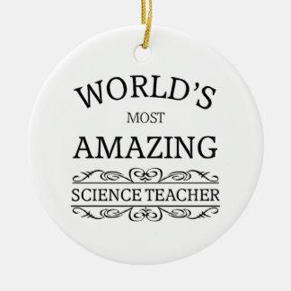 World's most amazing science teacher christmas ornament