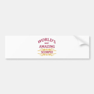 World's Most Amazing Scorpio Bumper Sticker