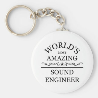World's most amazing Sound Engineer Basic Round Button Key Ring