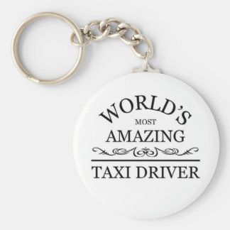 World's most amazing Taxi Driver Basic Round Button Key Ring