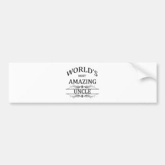 World's Most Amazing Uncle Bumper Sticker