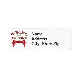 World's Most Awesome 16 Year Old Return Address Label