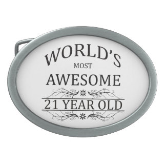 World's Most Awesome 21 Year Old Belt Buckles