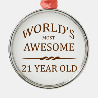 World's Most Awesome 21 Year Old Christmas Ornament