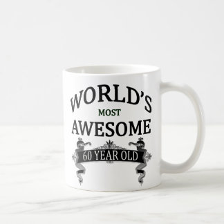 World's Most Awesome 60 Year Old Basic White Mug