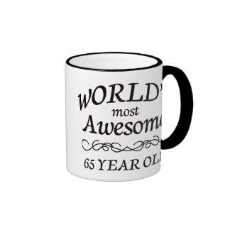 World's Most Awesome 65 Year Old Ringer Mug