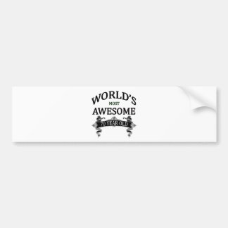 World's Most Awesome 70 Year Old Bumper Sticker