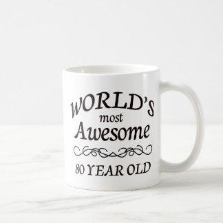 World's Most Awesome 80 Year Old Basic White Mug