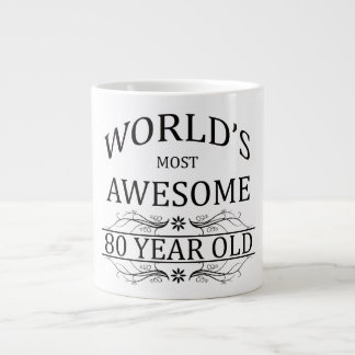 World's Most Awesome 80 Year Old Large Coffee Mug