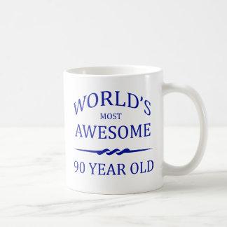 World's Most Awesome 90 Year Old Basic White Mug