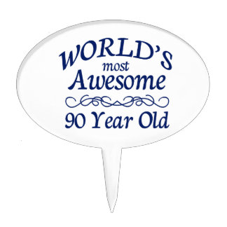 World's Most Awesome 90 Year Old Cake Picks