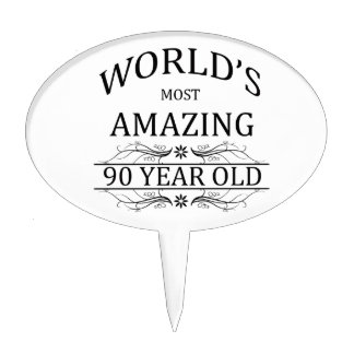 World's Most Awesome 90 Year Old Cake Toppers