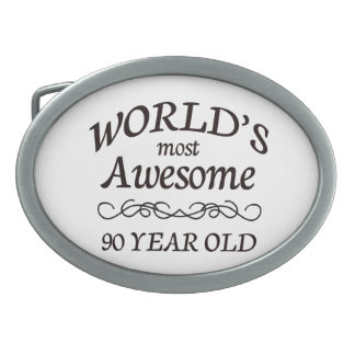 World's Most Awesome 90 Year Old Oval Belt Buckle