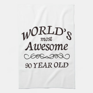 World's Most Awesome 90 Year Old Tea Towel