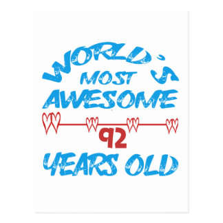 World's most awesome 92 years old postcard